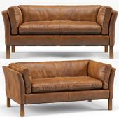 Clara Modern Classic Leather Upholstered Loveseat