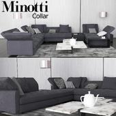 Sofa in modern style, Minotti Collar