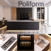 Kitchen Poliform Varenna My Planet 4 (vray GGX, corona PBR)