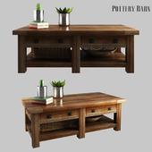 Benchwright Rectangular Coffee Table Rustic Mahogany