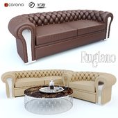 Rugiano Nirvana sofa & armchair, Willy coffee table