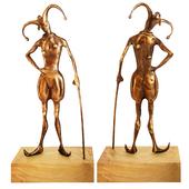 Fausova - Bronze statue of Fool