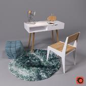 Work desk with decor