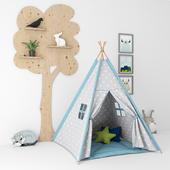 Декоративный набор для детской с палаткой