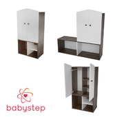 OM Wardrobe child babystep Loft, 1180 closed with a removable shelf