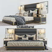 Crate&Barrell oxford collection bed