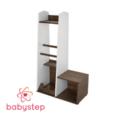 OM Anteroom children's babystep Loft, 1020 with a shoe