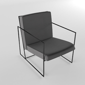 Armchair on a metal frame