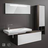 HATRIA Grandangolo washbasins are all sizes and furniture for the bathroom.