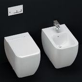 Built-in toilet and bidet RAC Metropolitan