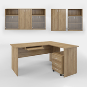 Computer Desk and Storage Set 3D Models Vray