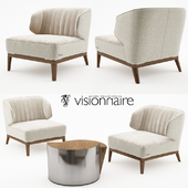 Blondie armchair with Cyborg large table - Visionnaire Home Philosophy