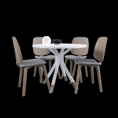 Boconcept table and chair