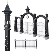 Forged fence with gates