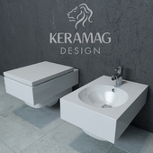 Keramag Preciosa II hanging toilet and bidet