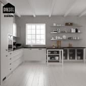 Kitchen Scavolini Diesel set 02 (V-ray3.6)