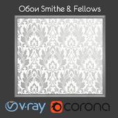 SMITH & FELLOWS / Grasmere / White / Gray wallpaper