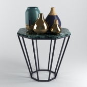 Vases With Cork Base and Table