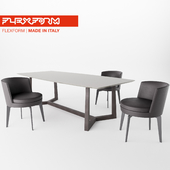 Feel good chair + Gipsy table by Flexform