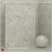 4 materials (seamless) - stone, plaster - set 2