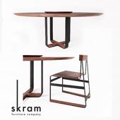 SKRAM / piedmont round dining table / piedmont # 3 chair