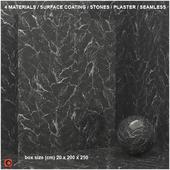 4 materials (seamless) - stone, plaster - set 3