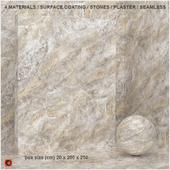 4 materials (seamless) - stone, plaster - set 4