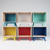 Modular shelves Atelier Emmaus