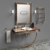 Set of furniture and sanitary ware for the bathroom Gaia Mobili # 4