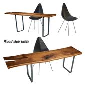 Wood slabs table 3