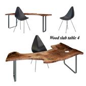 Wood slabs table 4