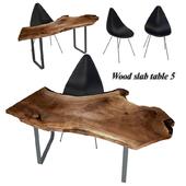 Wood slabs table 5