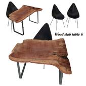 Wood slabs table 6