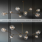 LUSTER BRANCHING BUBBLE 8 LAMPS GOLD BY LINDSEY ADELMAN