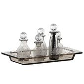 6 Piece Macaire Mini Decorative Bottle Set