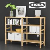 IKEA IVAR with decor