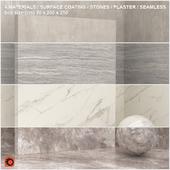 4 materials (seamless) - stone, plaster - set 7