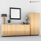 Mirror, Sideboard & Cabinet by Bocadolobo