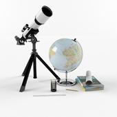Telescope with globe