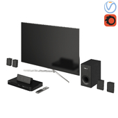 Samsung TV QLED Home Cinema Blu-ray 2