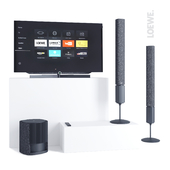 LOEWE TV set Bild 7.55 and speakers Klang 5