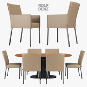 Rolf Benz chairs and dining table