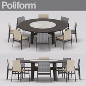 Ipanema chair and Home Hotel table from poliform