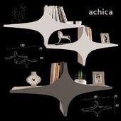Shelf with decor Achica