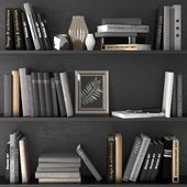 A set of books with decor