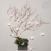 ikebana with candles