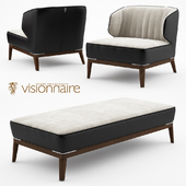 Blondie leather armchair and bench - Visionnaire Home Philosophy