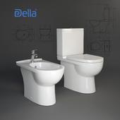 Della. Toilet bowl, bidet Globus.