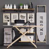 Wooden Ironing Board Set