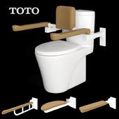 TOTO toilet and Splash advance handrail